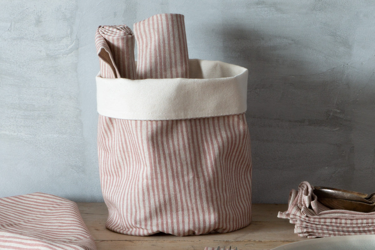 Sam Wilson Pink Stripe Pot Bag