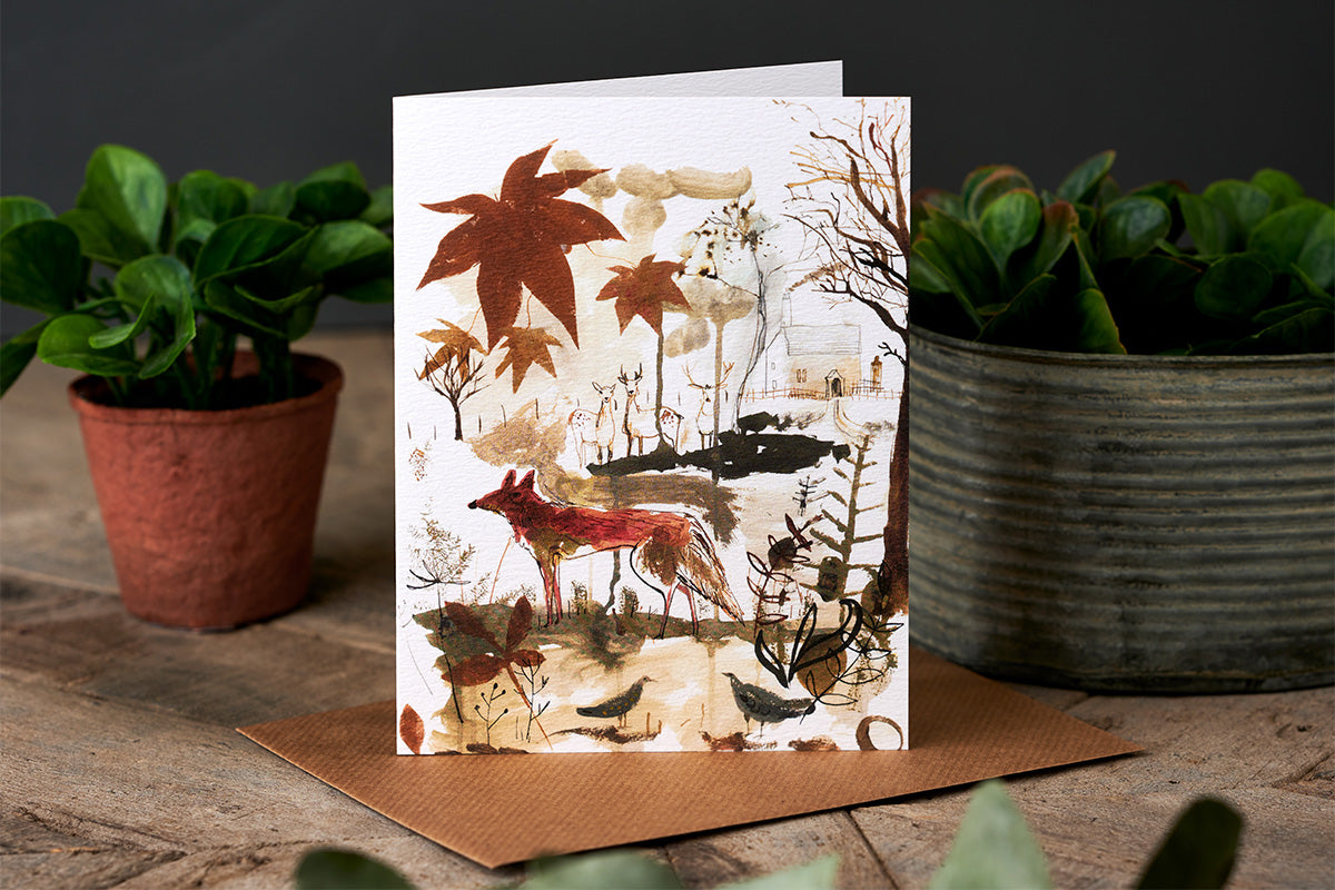 Sam Wilson Red Fox Greetings Card