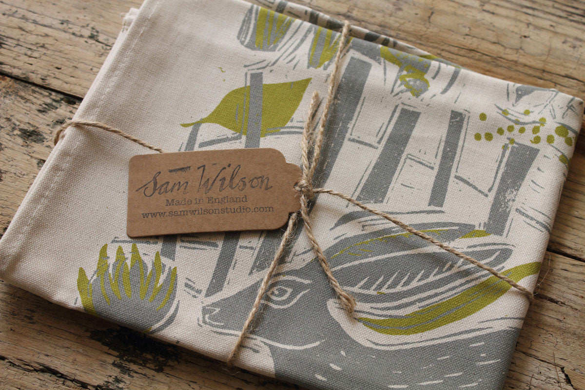 Running Hare Tea Towel