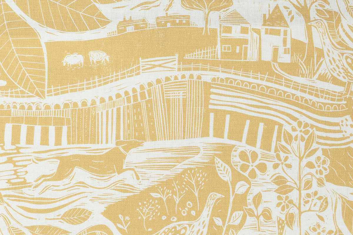 Sam Wilson Through The Fields Ochre Linen Union