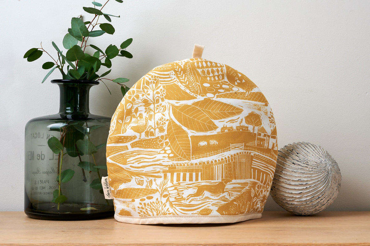 Sam Wilson Through The Fields Ochre Tea Cosy
