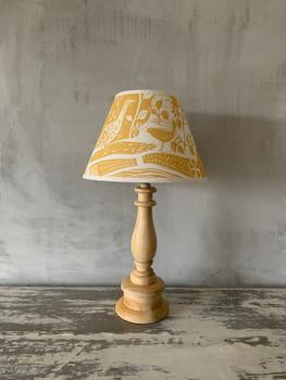 Sam Wilson Through The Fields Ochre Linen Empire Lampshade - 8""