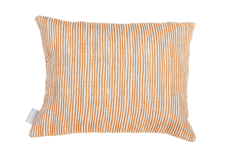 Copper Stripe Rectangle Union Linen Cushion
