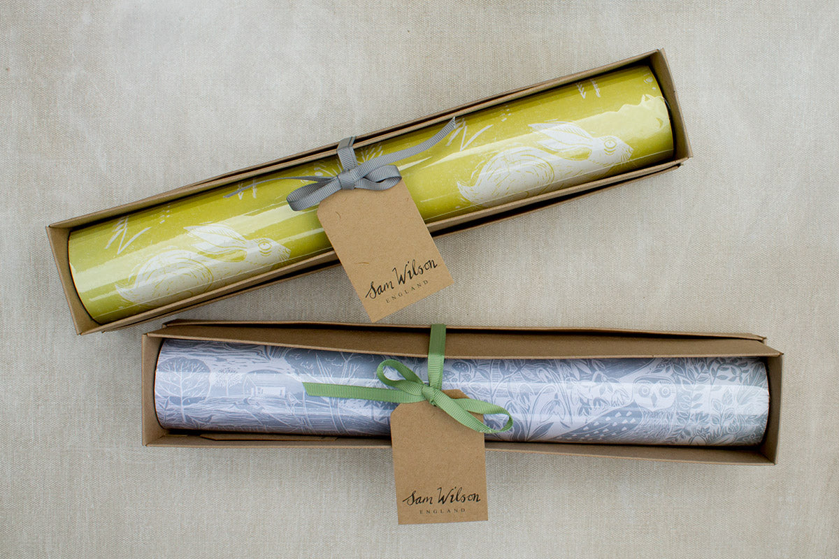 Headlong Hare Yellow Ochre Drawer Liners