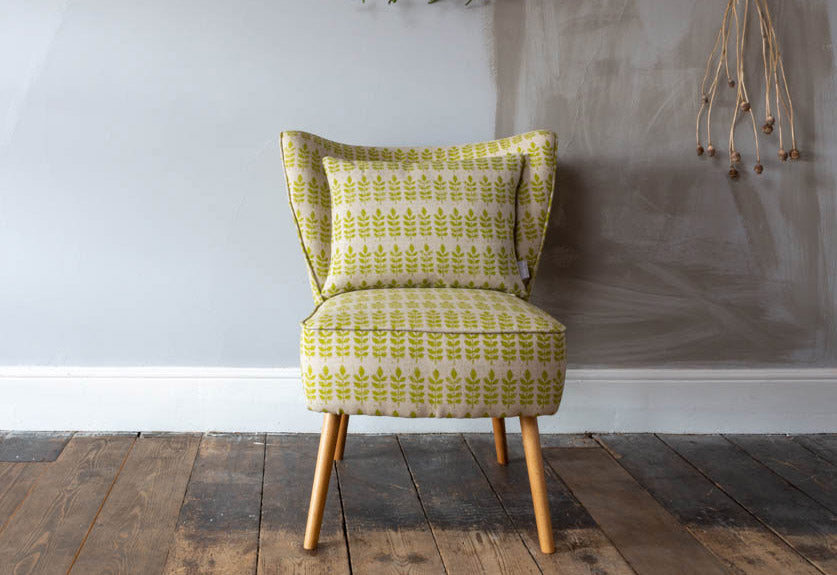 Evenlode Bedroom Chair - Green Leaf