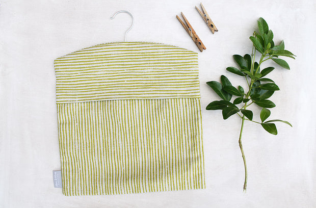 Sam Wilson Green Stripe Peg Bag