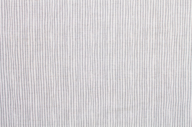 Sam Wilson Stripe - soft grey linen fabric