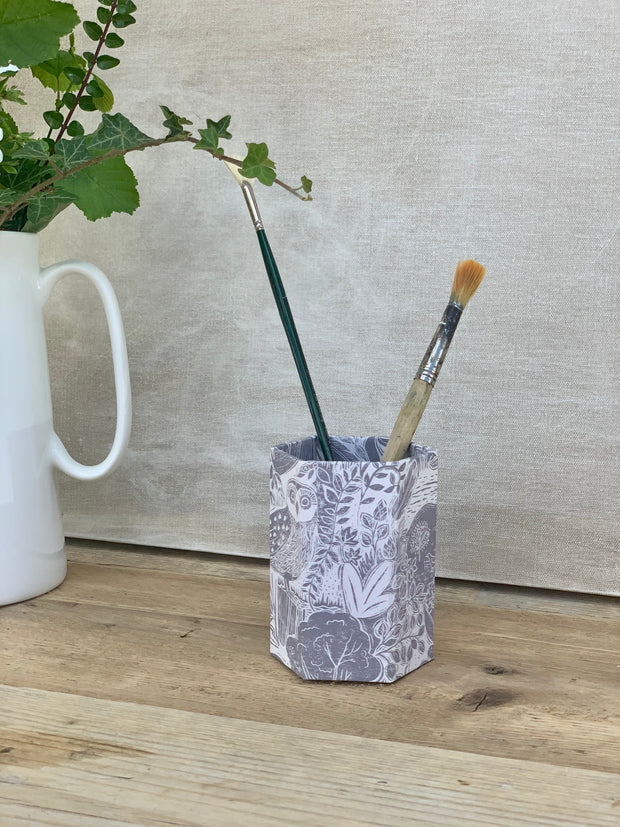 Sam Wilson Owl and Fox Pen Pot