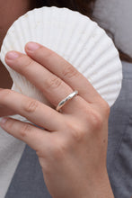 Silver Inégal ring