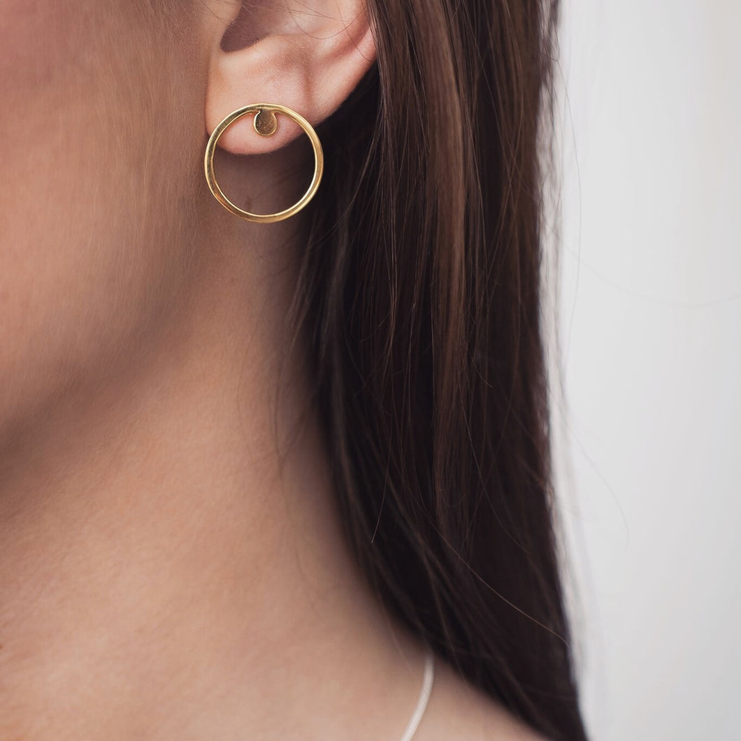 Gold Arroya earrings