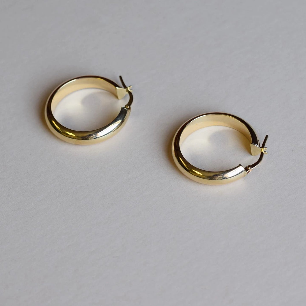 9ct Gold chunky hoops