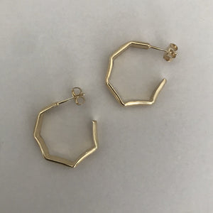 Facetado hoop earrings