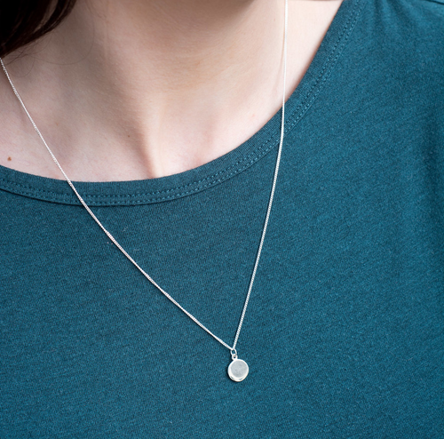 Signet circle necklace