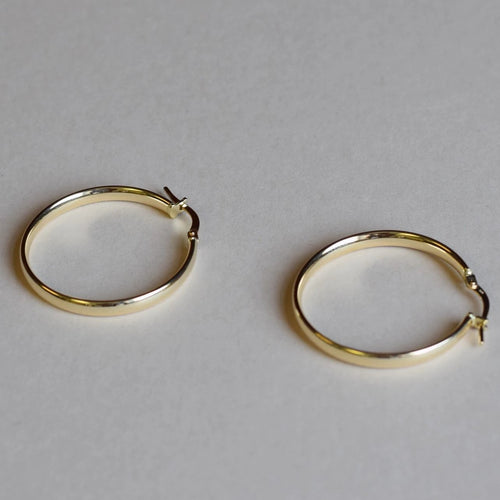 9ct Gold Classic Hoops