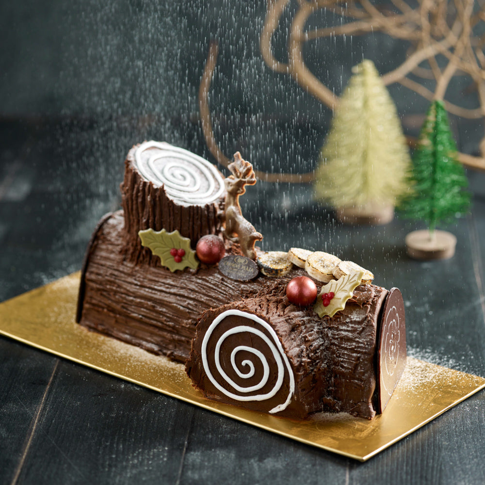 Chocolate Banana Yule Log