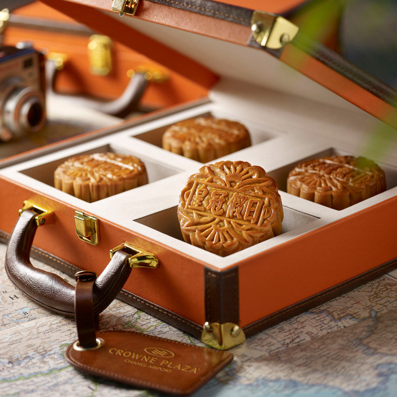 Baked Mooncakes: White Lotus Paste with Melon Seeds