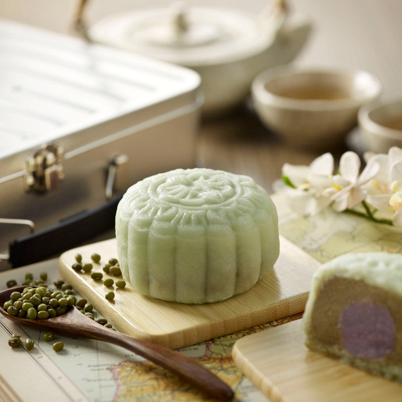 Snowskin Mooncakes: Salted Green Bean with Taro