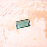 .48ct Blue Tourmaline Baguette Cut, Indicolite polished gemstone