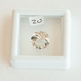 Smoky Quartz round Cut Weight 3.65ct, pale warm grey quartz in good clarity, pretty sparkly stone