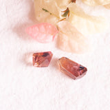 Tourmaline Pink Geo cut, free form cut pink tourmaline for jeweller
