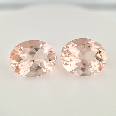 6.55ct Pink Morganite Oval Pair (11x9mm)