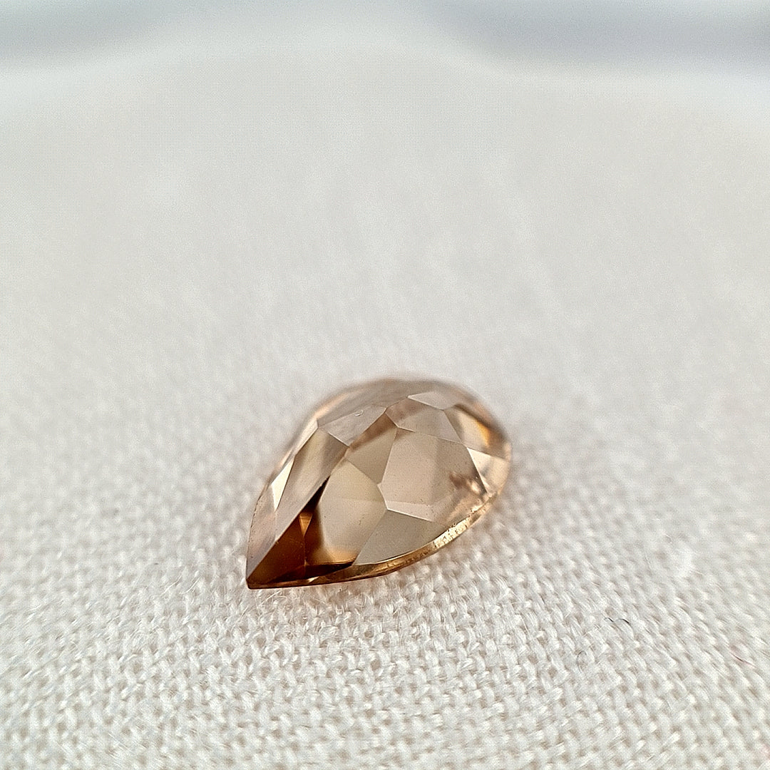 2.49ct Australian Pale Cognac Zircon Pear Cut