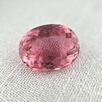 7.46ct Peach Pink Tourmaline Oval Cut