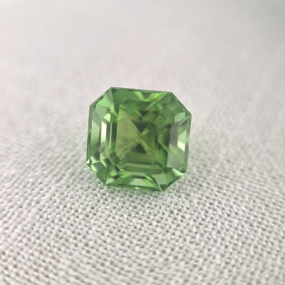 3.60ct Light Green Tourmaline Square Emerald Cut