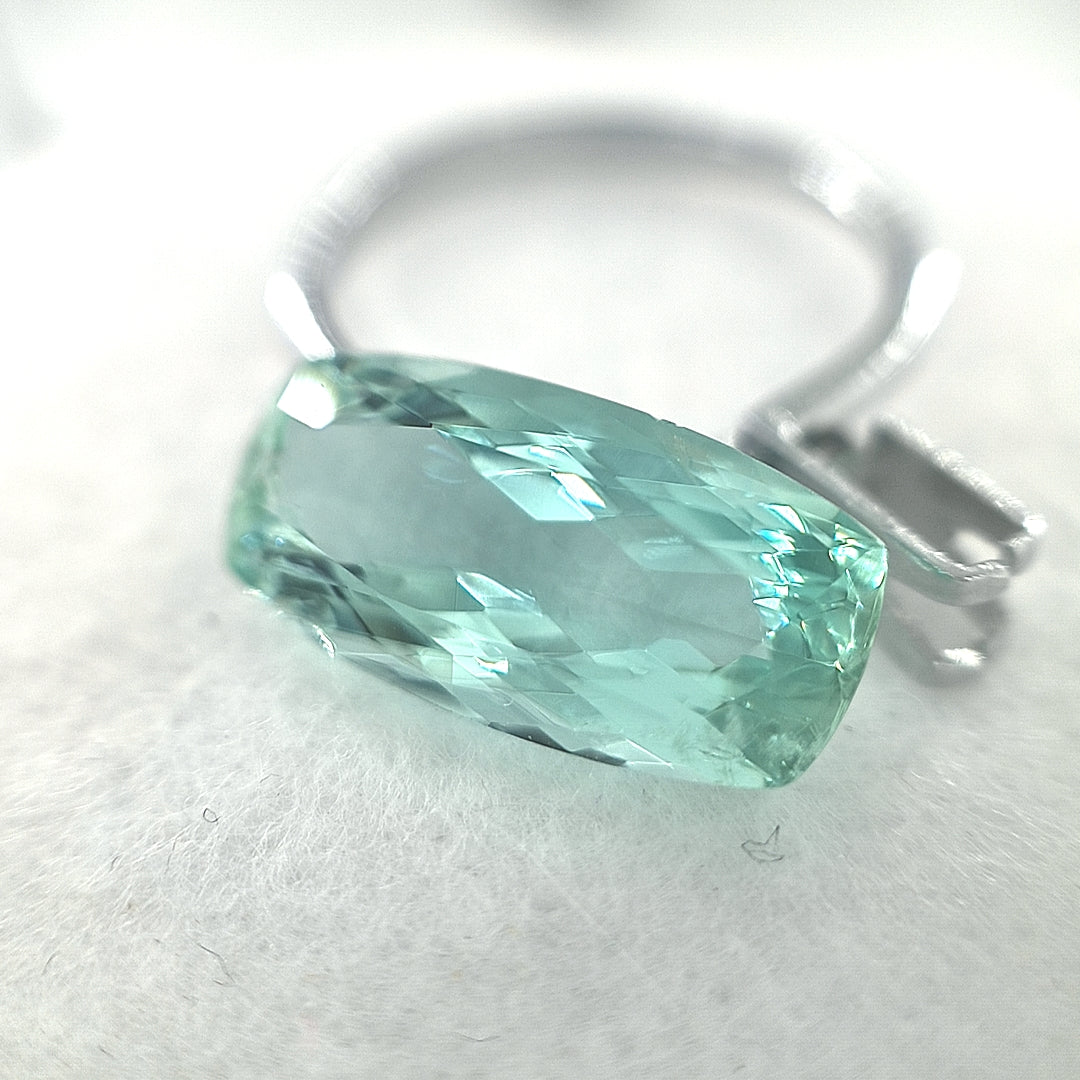5.71ct Green Beryl Cushion Cut