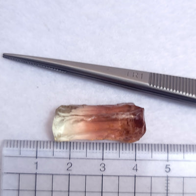27.17ct Bi Colour Pink Yellow Tourmaline Facet Rough