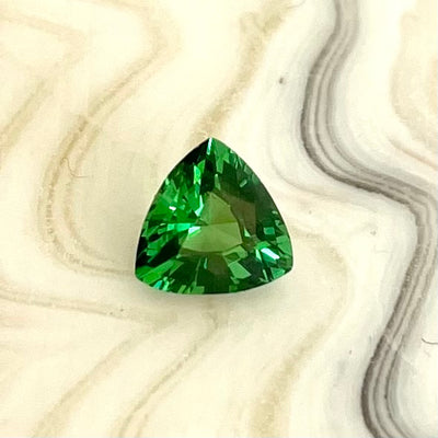 0.73ct Tsavorite Garnet Trillion Cut