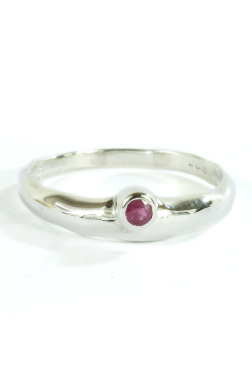 925 Silver Ring Nature Ruby