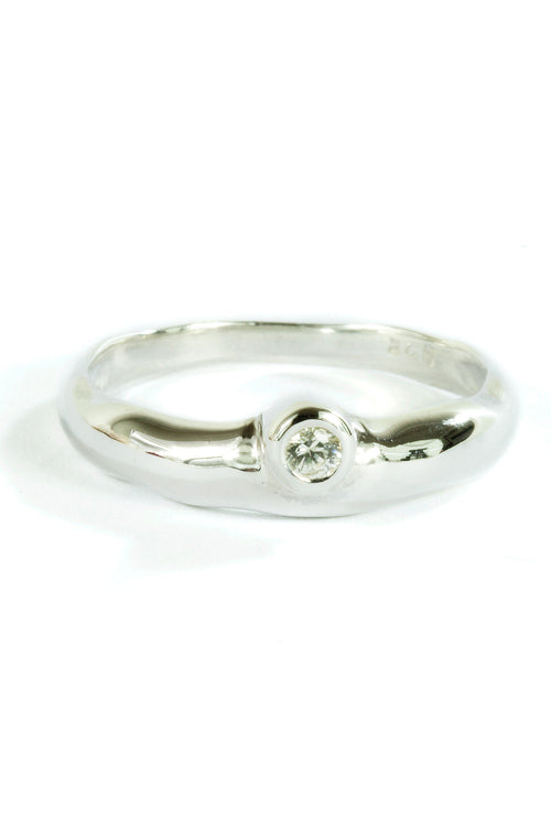 925 Silver Ring Nature White Sapphire
