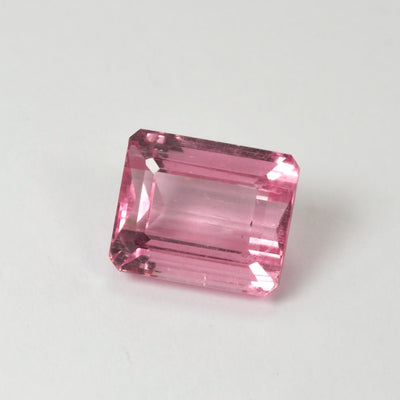 6.19ct Baby Pink Tourmaline Emerald Cut