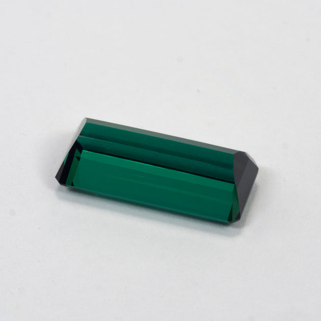 10.57ct Blue Green Tourmaline Emerald Cut