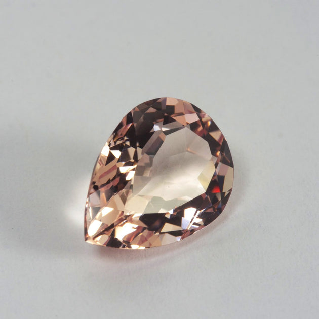 3.46ct Morganite Pear Cut