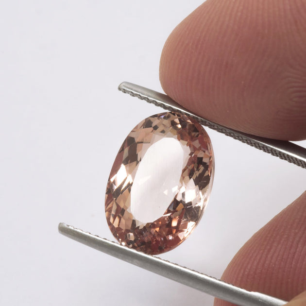 5.57ct Morganite Oval Cut