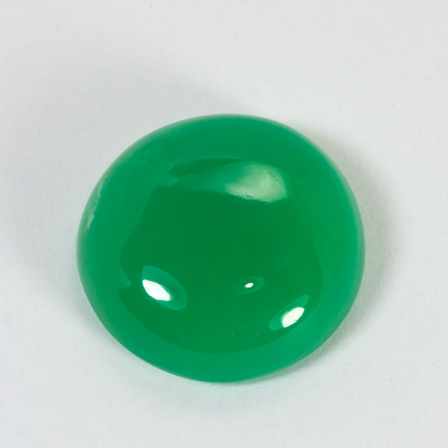 27.79ct QLD Chrysoprase Round Cabochon