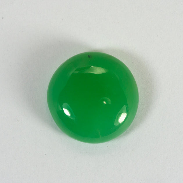 This natural piece of chrysoprase was mined in Queensland Australia. The piece is a stunning and consistent mid apple green. It is incredibly clean and should set with no inclusions visible,n