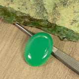 High Grade 37.93ct QLD Chrysoprase Oval Cabochon
