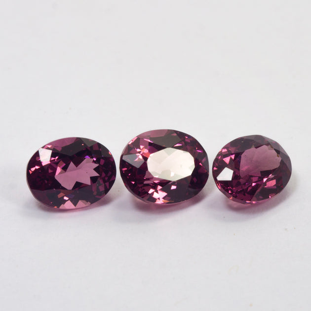 4.32ct TW Rhodolite Garnet Oval Cut Set