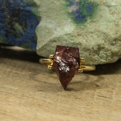 9.67ct Pyrope Garnet Kite Rough Cut