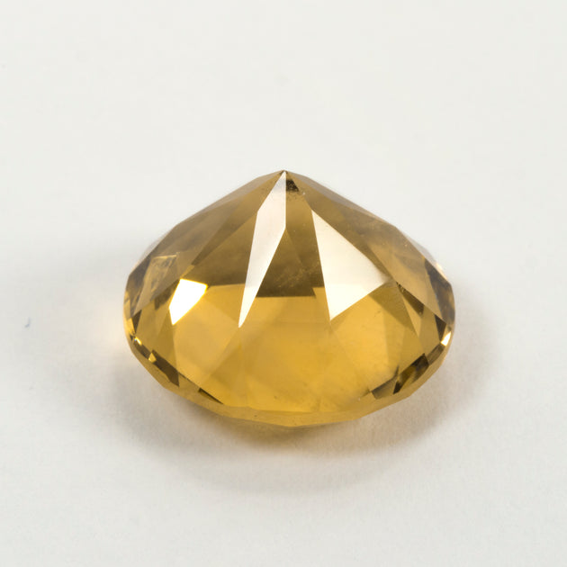 14mm 10.11ct Citrine Round Cut