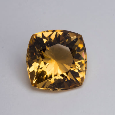 16mm 16.11ct Citrine Cushion Cut