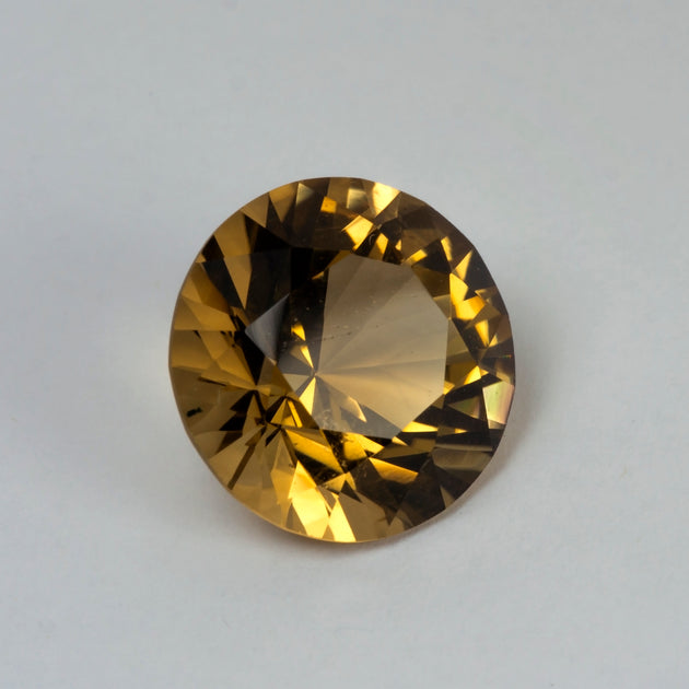 15mm 11.5ct Citrine Round Cut