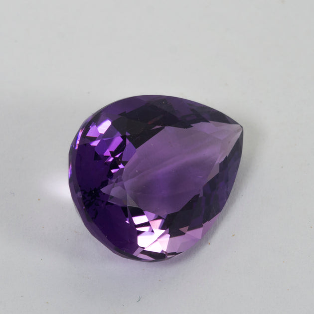 18mm 9.81ct Amethyst Pear Cut
