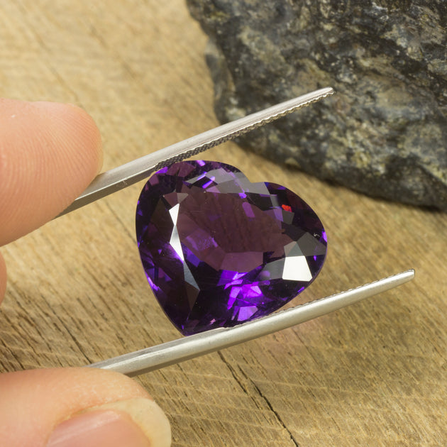 19mm 17.51ct Amethyst Heart Cut