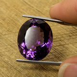 20mm 22.65ct Amethyst Oval Cut