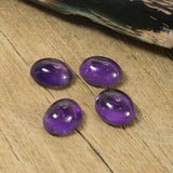 10x8mm Amethyst Oval Cabochon Cut