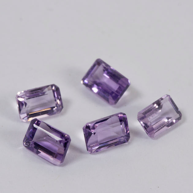 6x4mm Amethyst Emerald Cut